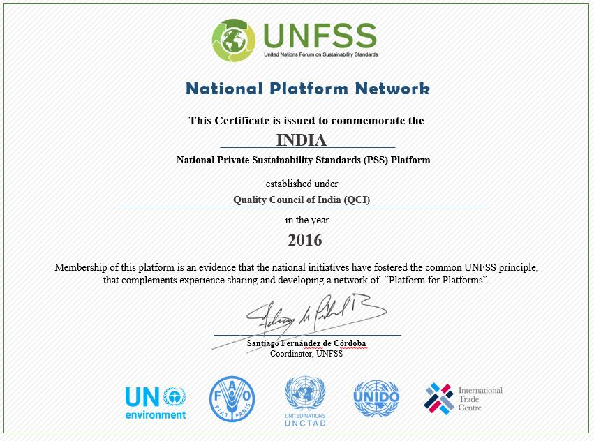 Indian National Platform On Private Sustainability Standards Unfss
